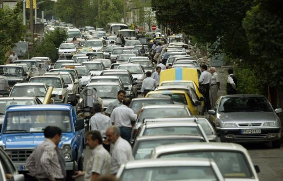 Big government policies in Iran led to gas rationing and the unpopularity of the government there.