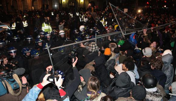 British Students riot in London