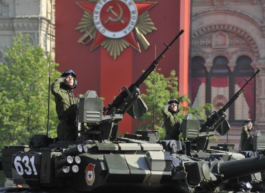 The Victory day military parade on Red Square in Moscow