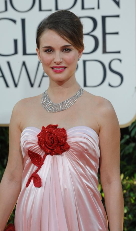 Natalie Portman At The Golden Globes