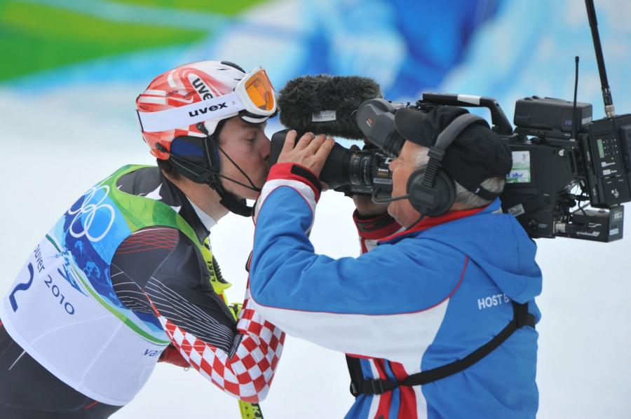 Croatia's Ivica Kostelic wins silver in the Men's' Slalom in Whistler