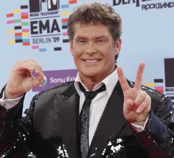 David Hasselhoff arrives at the MTV Europe Music Awards