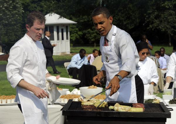 Obama hosts young men from local schools WATCH | President Obama Backyard Barbecue and Dog Poop