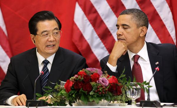 Obama Hosts Chinese President Hu Jintao For State Visit At White House