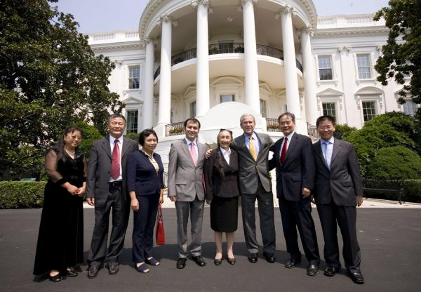 U.S. President Bush meets with Chinese Human Rights Activists in Washington