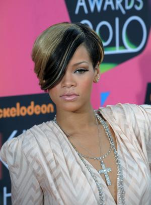 Rihanna arrives at 23rd annual Kids' Choice Awards in Los Angeles