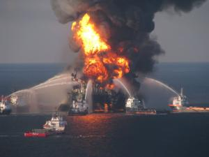 Deepwater Horizon Burning