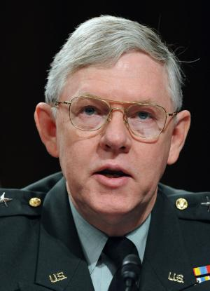Defense Intelligence Agency Director Army Lt. Gen. Michael Maples testifies before the Senate Armed Services Committee regarding ongoing and future national security threats and opportunities on Capitol Hill in Washington on March 10, 2009.    (UPI Photo/Roger L. Wollenberg)