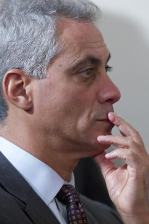 Rahm, Jackson discuss Chicago mayor's race
