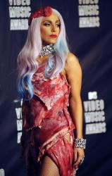 was lady gaga meat dress real. lady gaga meat dress real.