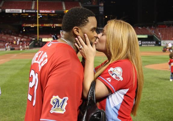 Chanel Fielder with Prince after All-Star game homerun derby.