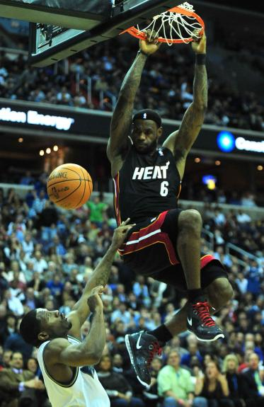 lebron james miami heat dunk. Miami Heat#39;s LeBron James