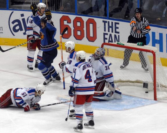 The Rangers were knocked out of the second round last year at the hands of the Thrashers.