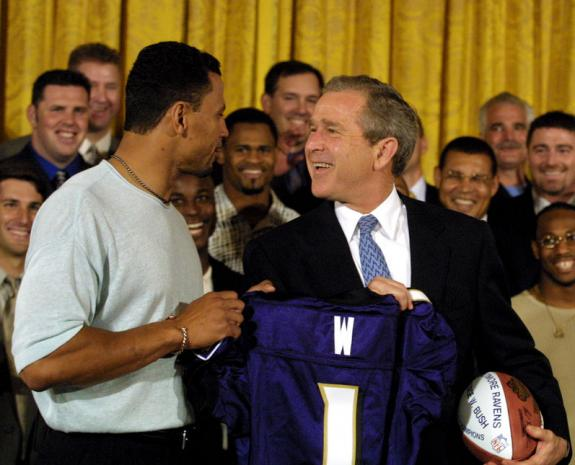 Rod_Woodson - President Bush honors the Baltimore Ravens as Super Bowl Champions