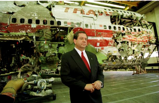 wreckage of TWA Flight 800 viewed by media for 1st time