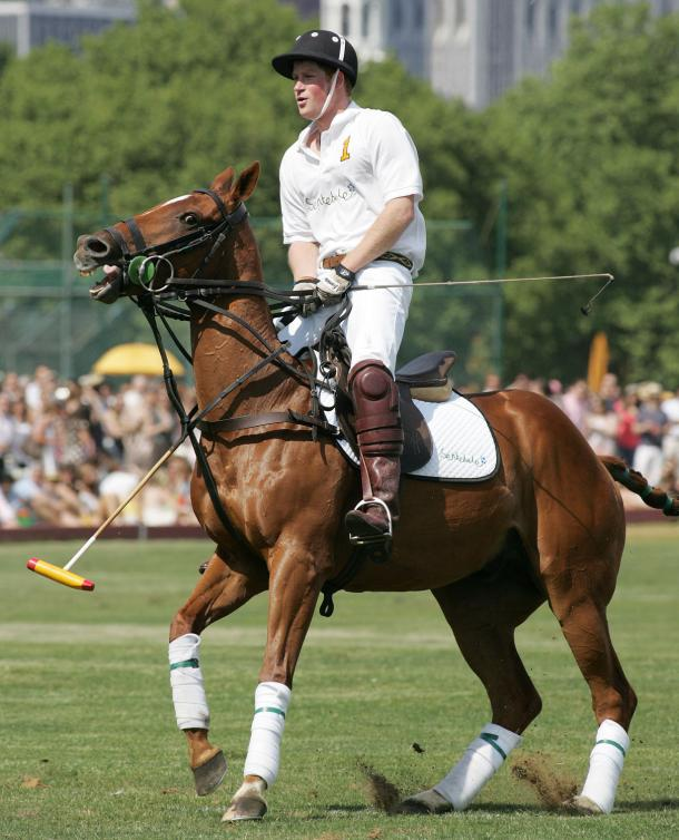 prince harry polo. Prince Harry participates in