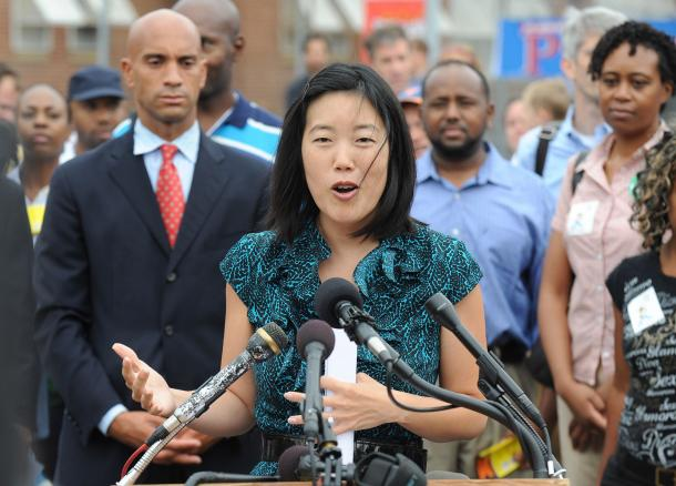 Michelle Rhee and Adrian Fenty