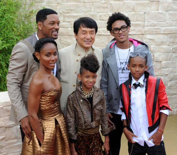 pics of will smith and family. Will Smith family and Jackie
