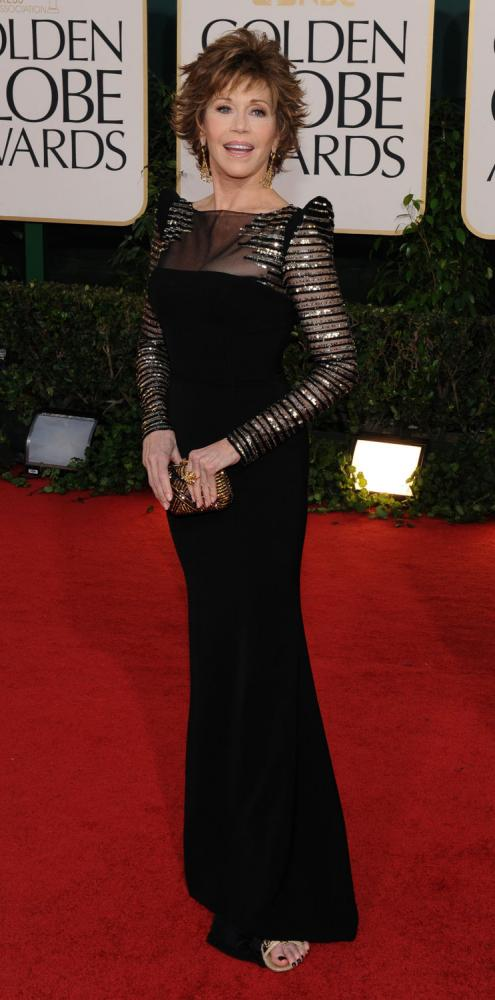 golden globes jane fonda. Jane Fonda arrives at the 68th annual Golden Globe Awards in Beverly Hills,